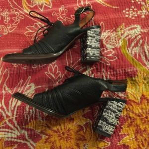 Shoes - Chie Mihara block heels with lace up front.